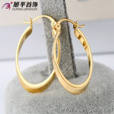 Xuping Simple Gold-Plated Jewelry Hoop Earring for Women -27486