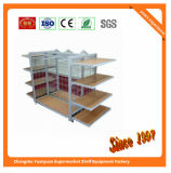Wire Mesh Back Metal Steel Gondola Supermarket Display Shelf