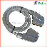 100% Tested 21pin Male to Male AV Cable Scart Cable