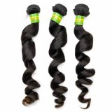 Queen Hair Products Loose Curly Brazilian Virgin Human Hair Extensions