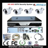 1.0MP 720p Night Vision Waterproof Camera 4CH Ahd CCTV DVR Kit