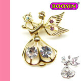 2016 Hot Sale Woman Brooch / Angel Shaped Gold Brooch