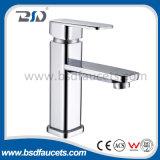 Yuhuan Manufacture Tapware 35mm Ceramic Cartridge in Square Pyramidal Shape Brass Basin Mixer