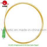 Sc APC Singlemode 9/125 PVC LSZH Fiber Optic Pigtail