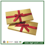 Luxury Exquisite Rectangle Golden Paper Chocolate Packaging Box