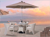 Outdoor Leisure Furniture Rattan Table with Chair