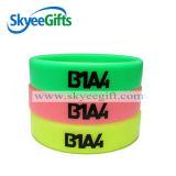 1 Inch Printing Black Silicone Bracelet