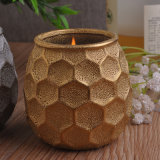 Wholesale Golden Ceramic Candle Holders
