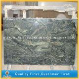 Cheap Polished Seawave Green Granite Floor/Wall Tiles for Bathroom