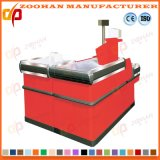 Stainless Steel Powder Coating Cashier Table Supermarket Checkout Counter (Zhc35)