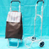 Folding Shopping Trolley with Aluminum Frame