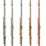 16keys Closed Student Nickel Plated Flute (FL-100N)