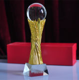 Hot Sale Crystal Trophy Metal Cup Crystal Award Sport Trophy