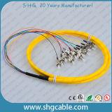 12 Core FC/Upc Single Mode Bunch Fiber Optical Pigtail