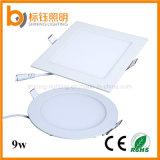 9W Light Super Slim LED Panel Ceiling Lamp (square/round Fashion Design Warm/Pure/Cool White)