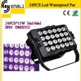 24PCS*15W 5in1 Waterproof Wash PAR Light (HL-028)