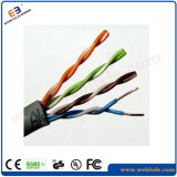 U/UTP Steel Wire Support Unshielded Cat 5e Twisted Pair Installation Cable