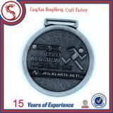 Custom Antique Finish Half Marathon Award Medallion