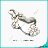 Zinc Alloy Bent Heart Charm Jewelry Making