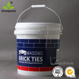 10L New Model Round Plastic Bucket for Food Contain