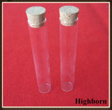 Laboratory Transparent Flat Bottom Borosilicate Glass Test Tube with Cork