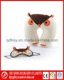 Plush Cute Owl Toy Neck Cushion with Owl Eyemask