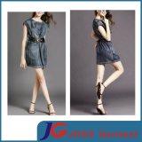 Fashion Black Jeans One Piece Dress Short Jean Skirts (JC2114)