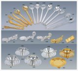 Deluxe Golden and Silver Tableware for Hotal Banquet