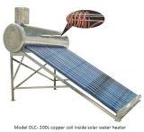 Copper Coil Pressurized Solar Water Heater for Korean Market