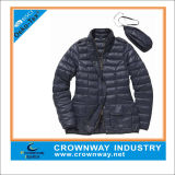 Down Outdoor Lightweight Blue Packaway Jacket for Women