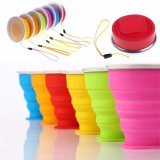Outdoor Travel Silicone Retractable Telescopic Collapsible Folding Foldable Water Cup