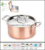 3 Ply Composite Material Copper Saucepot