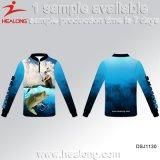 Healong UV-Protection Sportswear Customized Sublimation Printing Fishing Shirt