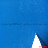 PU Leather Emboss with Flocking for Shoes and Bag