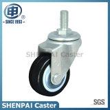 """2.5""""Black Nylon Threaded Stem Swivel Caster Wheel"""