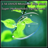 1.56 UV420 Monomer Blue Block Super Hydrophobic Optical Lens