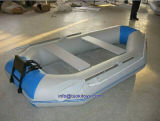 White and Blue Inflatable Boat for Fishing Equipment (TK-035)