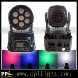 7PCS * 10W 4in1 LED Mini Wash Moving Head Light