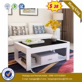 Glass Top Wooden Coffee Table Modern Living Room Furniture (UL-MFC0263)