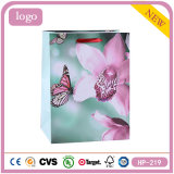 Colorful Flowers Butterfly Cosmetics Gem Clothing Coated Paper Bag