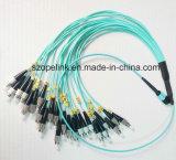 MPO/MTP Fiber FC-FC Optic Patch Cord Sm Simplex for Qsfp-Qsfp