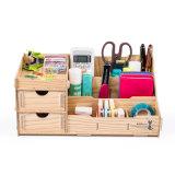 All Purpose Wooden DIY Desktop Stationery Organizer
