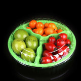 Disposable 3 Compartment Pet Plastic Food Container for Fresh Fruit