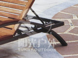 Wood Leisure Chair Aluminium Arm