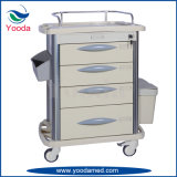 Medical Hospital Use ABS Medicine Cart with Drawers