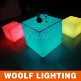 More 300 Designs LED Plastic Furniture LED Garden Cube Chairs