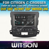 Witson Car DVD for Citroen C-Crosser Car DVD GPS 1080P DSP Capactive Screen WiFi 3G Front DVR Camera