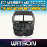 Witson Car DVD for Mitsubishi Asx 2010-2011 Car DVD GPS 1080P DSP Capactive Screen WiFi 3G Front DVR Camera