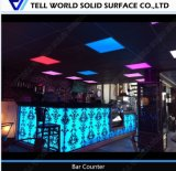Modern Carved Pattern Bar Counter for Night Club with LED Light