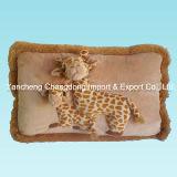 Plush Giraffe Cushion with Soft Giraffe Printing Material